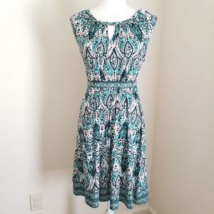 Apt 9 Fit & Flare Sleeveless Keyhole Midi Dress